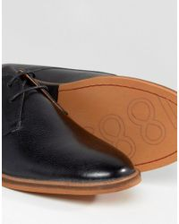 Frank Wright | Busby Derby Shoes In Black Leather - Black for Men | Lyst
