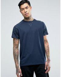 Jack & Jones | Blue T-shirt With Printed Raglan for Men | Lyst