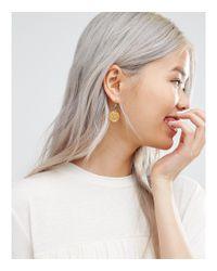 Ottoman Hands - Metallic Hammered Disc Earrings - Lyst