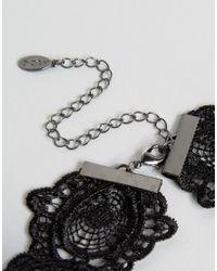 ALDO - Black Flower Drape Choker - Lyst