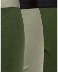 ASOS - Green Trunks In Khaki 3 Pack Save for Men - Lyst