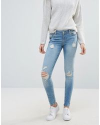 Vero Moda - Blue Five Super Slim Jeans - Lyst