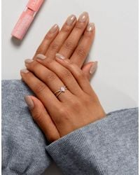 ASOS - Pink Limited Edition Opal Stone Fine Ring - Lyst