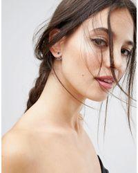 ASOS - Blue Mini Jewel Cluster Swing Earrings - Lyst