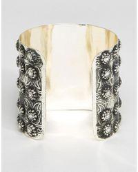 ASOS - Purple Stone Cuff Bracelet - Lyst