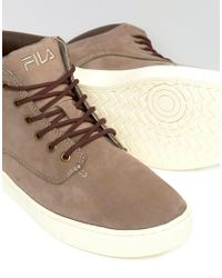 Fila - Gray Roswell Laceup Boots for Men - Lyst