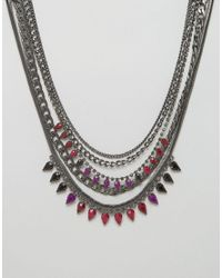 Girls On Film - Black Statement Necklace - Lyst