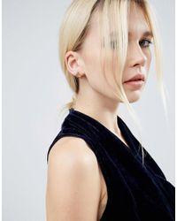 ASOS - Multicolor Iridescent 3d Stud Earrings - Lyst