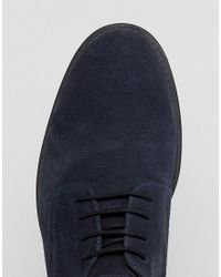 Frank Wright - Blue Lace Up In Navy Suede for Men - Lyst