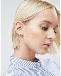 ASOS - Metallic Sterling Silver 9mm Ball Stud Earrings - Lyst