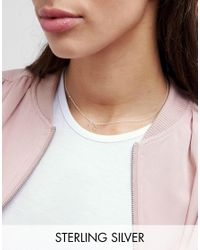 ASOS | Metallic Sterling Silver Lucky Horse Shoe Choker Necklace | Lyst