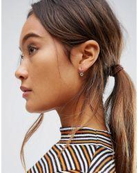 ASOS - Metallic Gold Plated Sterling Silver 10mm Fine Filigree Hoop Earrings - Lyst
