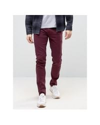 Farah | Purple Elm Chino In Slim Fit for Men | Lyst