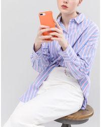Knomo - Orange London Real Leather Iphone 7/8 Case - Lyst