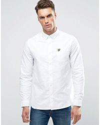 Lyle & Scott | White Long Sleeve Oxford Shirt for Men | Lyst