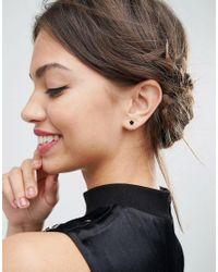 ASOS - Multicolor Pack Of 4 Midnight Stud Earrings - Multi - Lyst