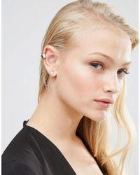 Lipsy - Metallic Pave Chain Ear Cuff - Lyst