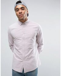 ASOS | Casual Regular Fit Oxford Shirt With Neps In Pink for Men | Lyst