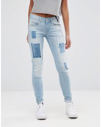 Pepe Jeans   Blue Alyx Patch Mom Jeans   Lyst
