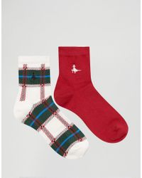 Jack Wills | White 2 Pack Pullborough Socks | Lyst