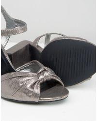 New Look - Metallic Heeled Sandal - Lyst