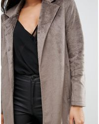 Missguided | Multicolor Faux Pony Skin Tailored Coat | Lyst