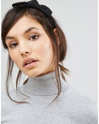 Vero Moda - Bow Headband - Black - Lyst