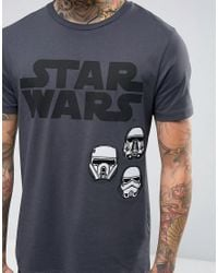 ASOS - Gray Star Wars T-shirt With Rogue One Print And Badges for Men - Lyst