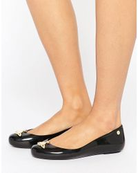 Melissa + Vivienne Westwood Anglomania | Black Orb Gloss Space Love Flat Shoes | Lyst