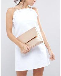 ASOS - Multicolor Soft Metallic Flap Over Clutch Bag - Lyst