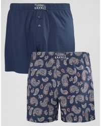 Esprit - Blue Boxers 2 Pack In Paisley for Men - Lyst