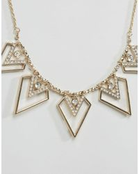 Oasis - Metallic V Rope Chain Necklace - Gold - Lyst