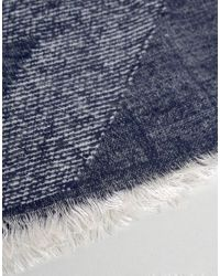 Esprit - Blue Scarf In Houndstooth for Men - Lyst