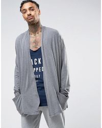 ASOS | Gray Jersey Lightweight Cardigan for Men | Lyst