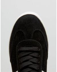 ASOS - Black Delphine Stripe Lace Up Sneakers - Lyst