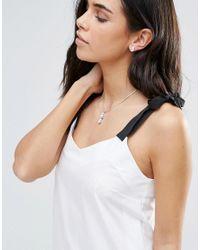 Krystal | Metallic Swarovski Pear Drop Necklace And Earring Set | Lyst