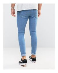 Only & Sons - Blue Extreme Super Skinny Jeans for Men - Lyst