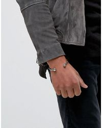 Icon Brand - Metallic Premium Barbell Cuff Bracelet In Silver for Men - Lyst
