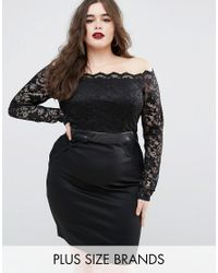 Boohoo | Black Lace Bodycon Dress | Lyst