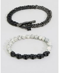 Icon Brand - Multicolor Bones Mixed Bracelet Pack for Men - Lyst