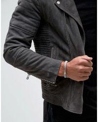 Icon Brand - Gray Tagline Grey Bracelet for Men - Lyst