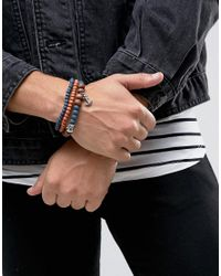 Icon Brand - Blue Double Beaded Bracelet Pack for Men - Lyst
