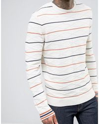 ASOS | Multicolor Cable Knit Jumper With Stripes for Men | Lyst