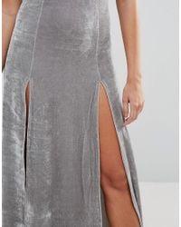 Daisy Street - Metallic Cami Maxi Dress - Lyst