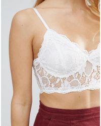Daisy Street - White Lace Bralet - Lyst