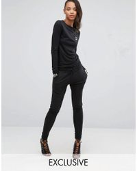 PUMA | Black Exclusive To Asos Lounge Slouchy Jumpsuit | Lyst