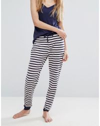 New Look - Pink Striped Pyjama Jogger Set - Lyst