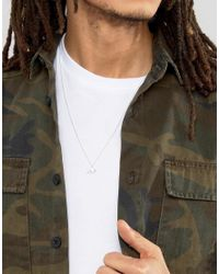 ASOS - Metallic Necklace In Silver With Dinosaur Pendant for Men - Lyst