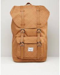 Herschel Supply Co. | Brown Little America Quilted Backpack 25l for Men | Lyst