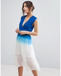 4e3a4b1d82fa3 Lyst - Adelyn Rae Ombre Dress in Blue